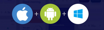 icon of android, windows and apple