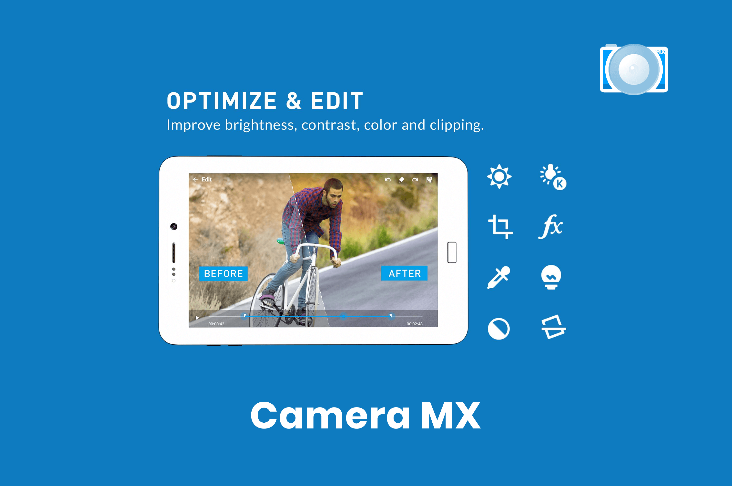 features of camera mx app