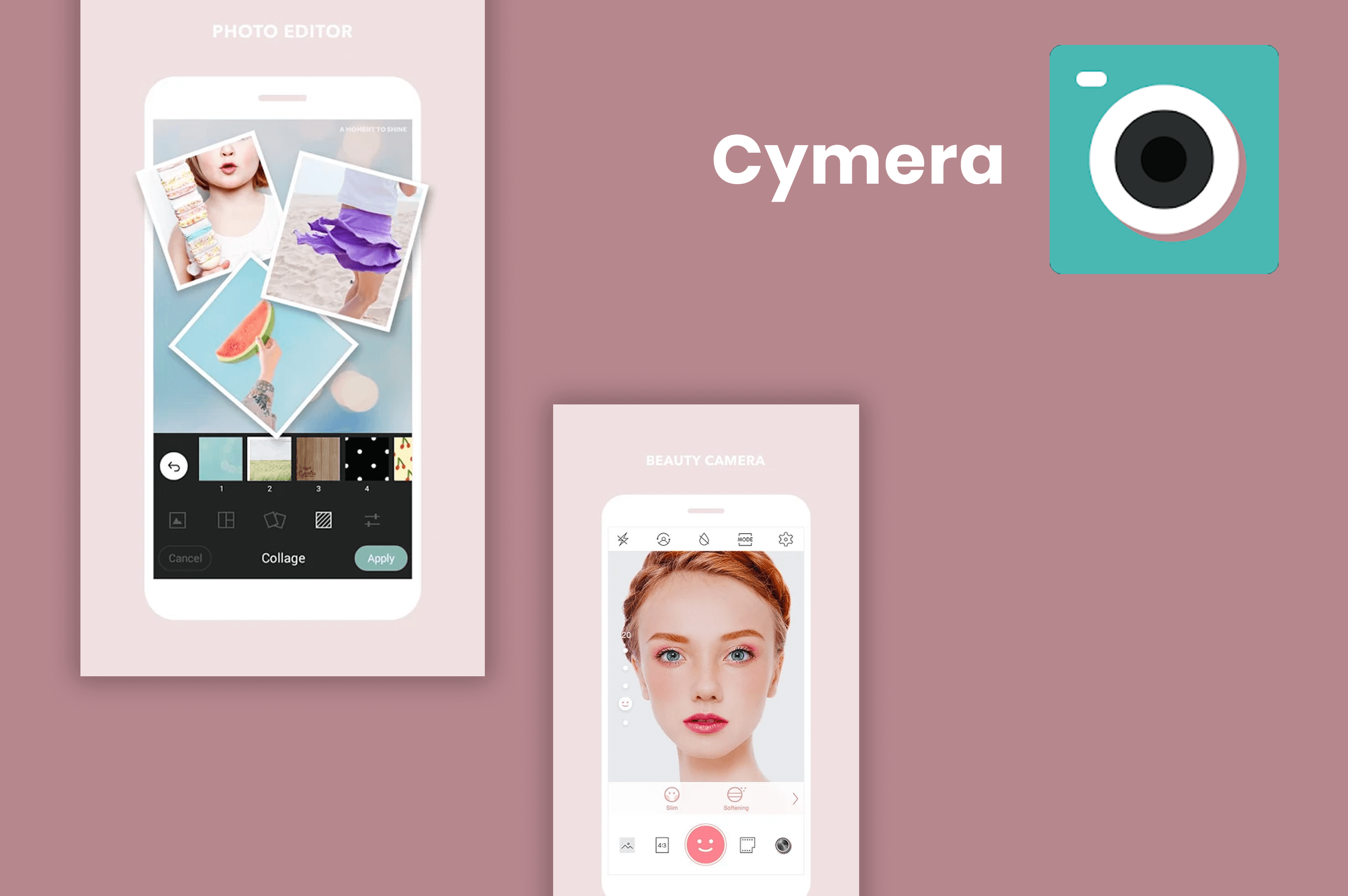 cymera app screens
