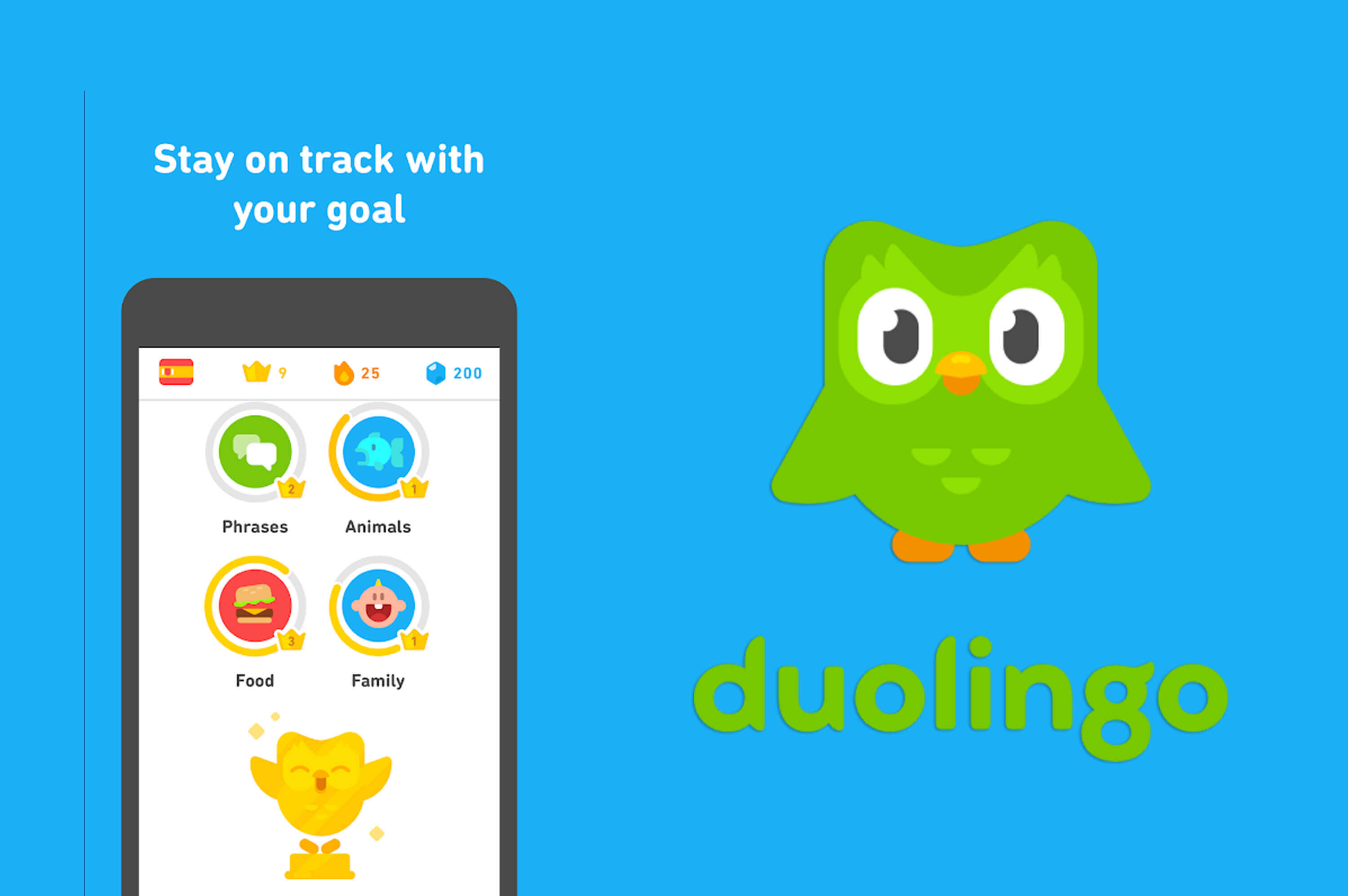 duolingo mobile app logo and poster