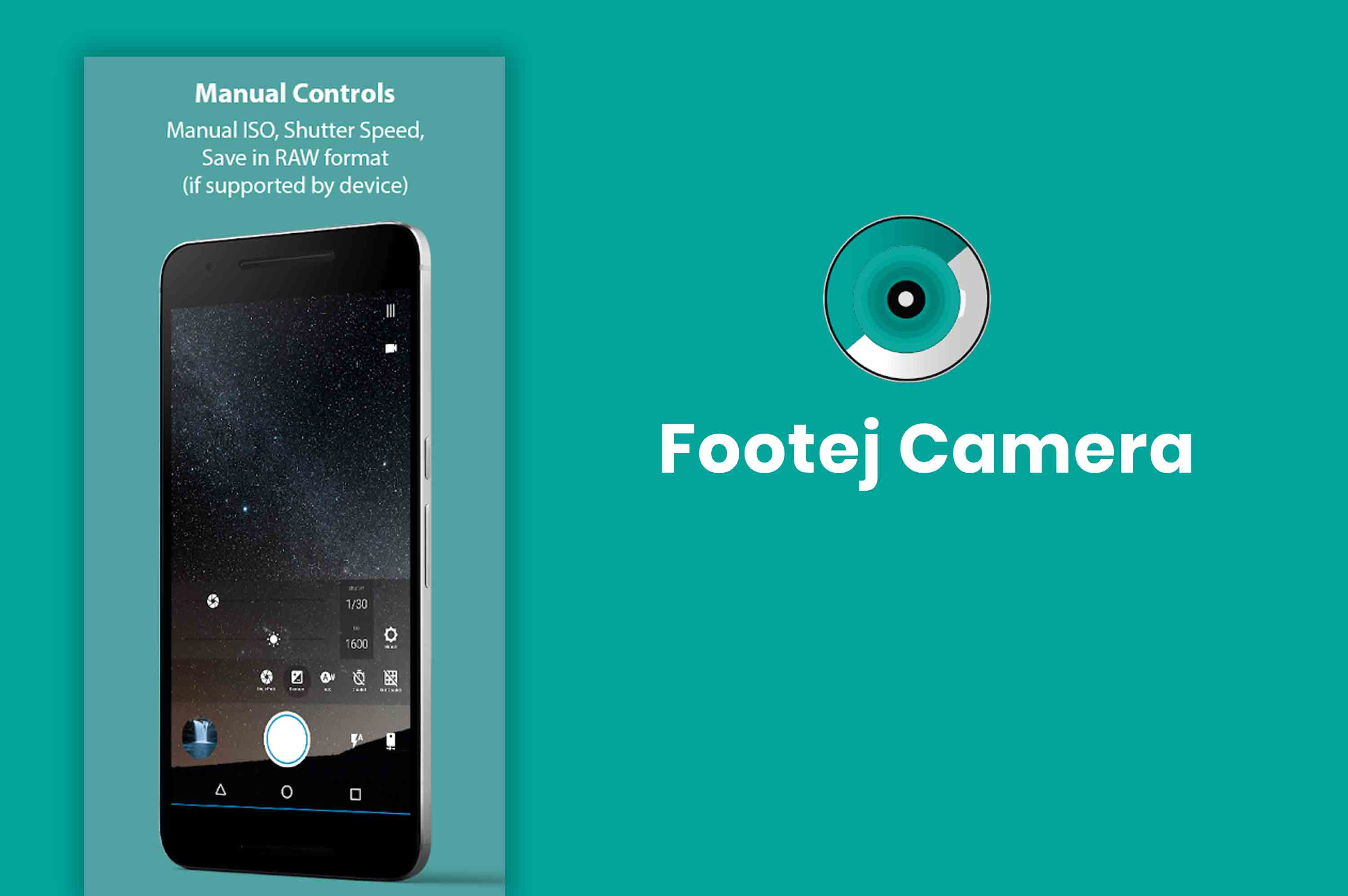 a smartphone with footej camera capturing image of a sky