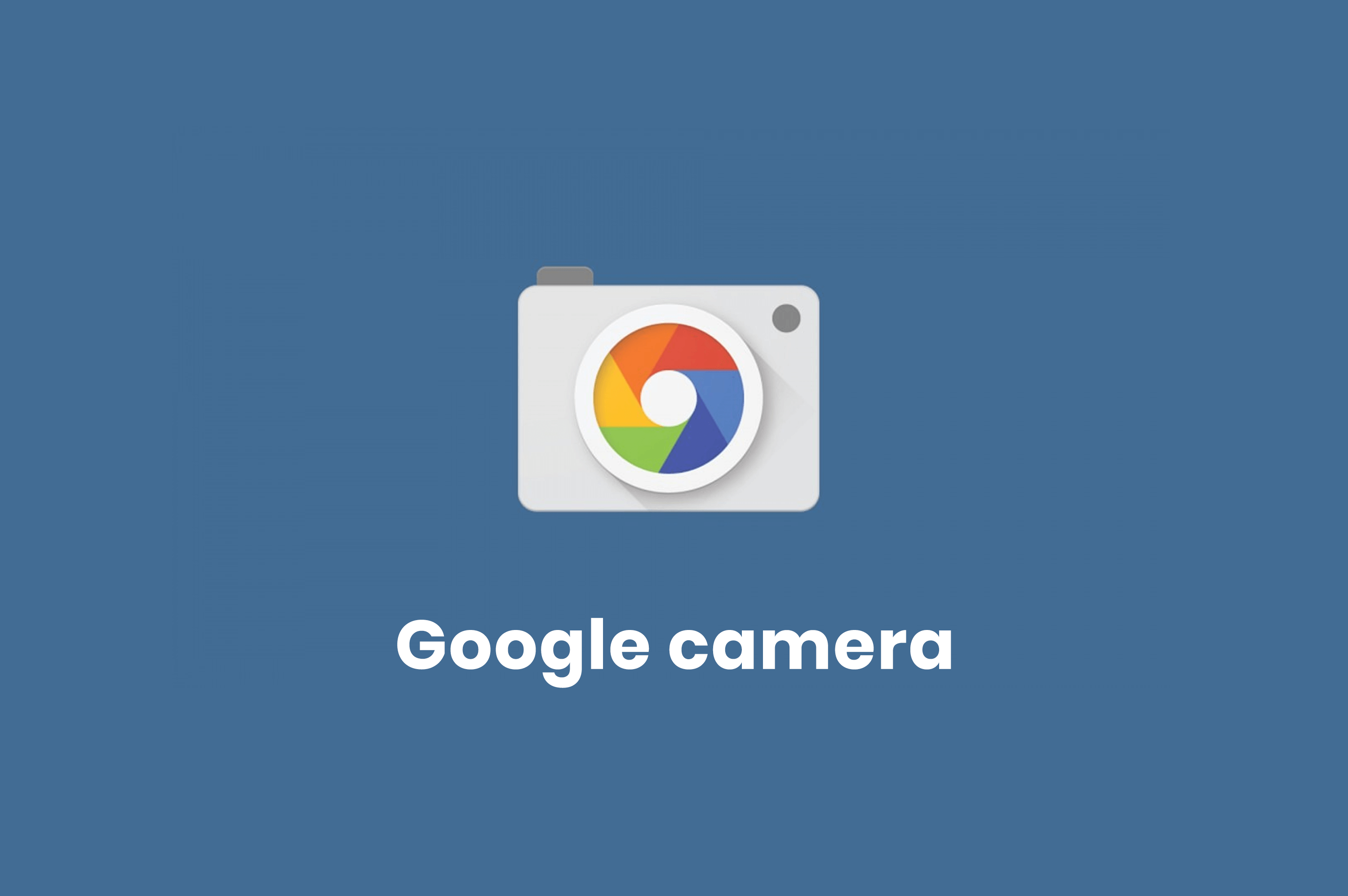 logo of google camera app