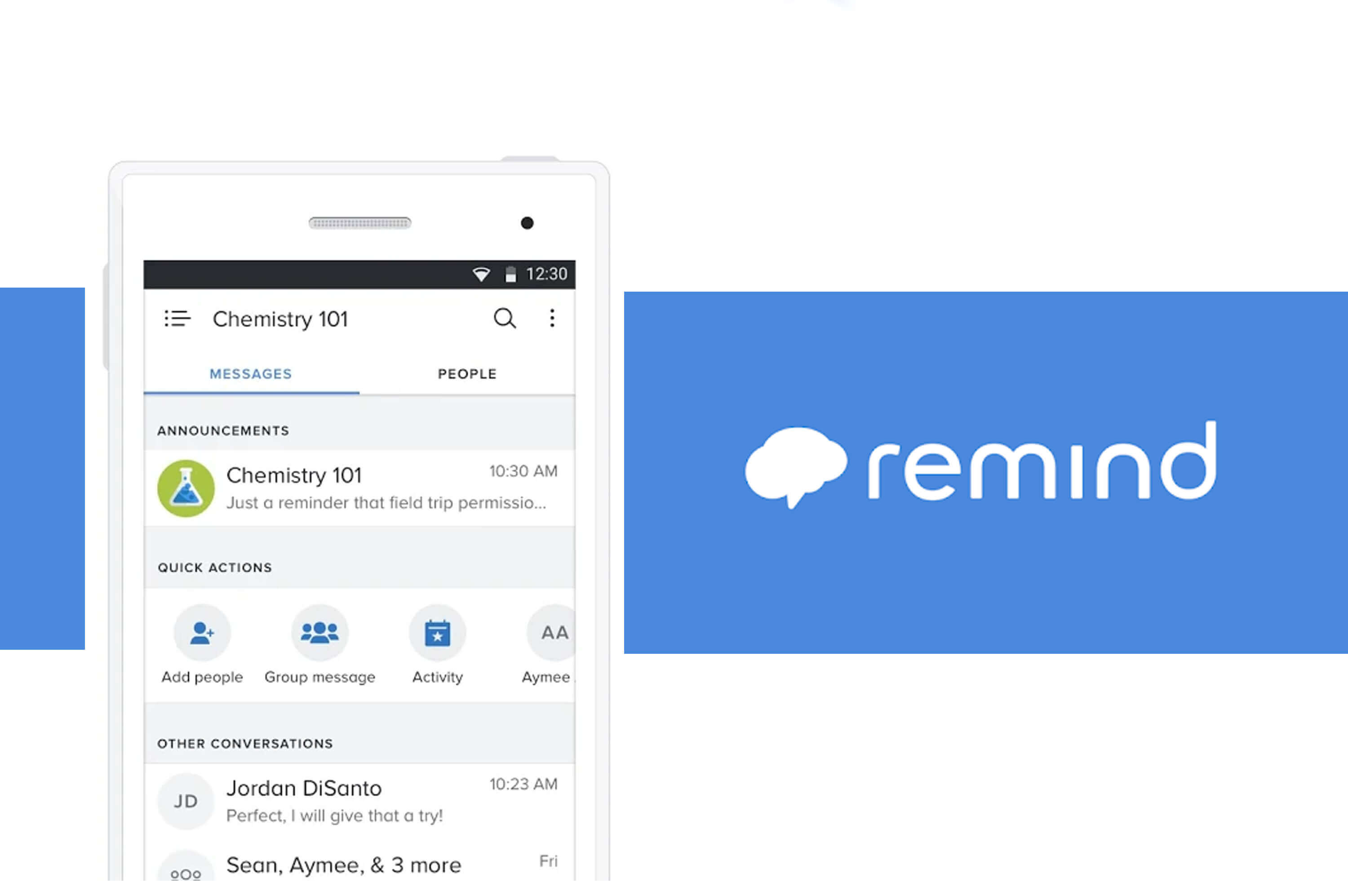 a smartphone with remind app