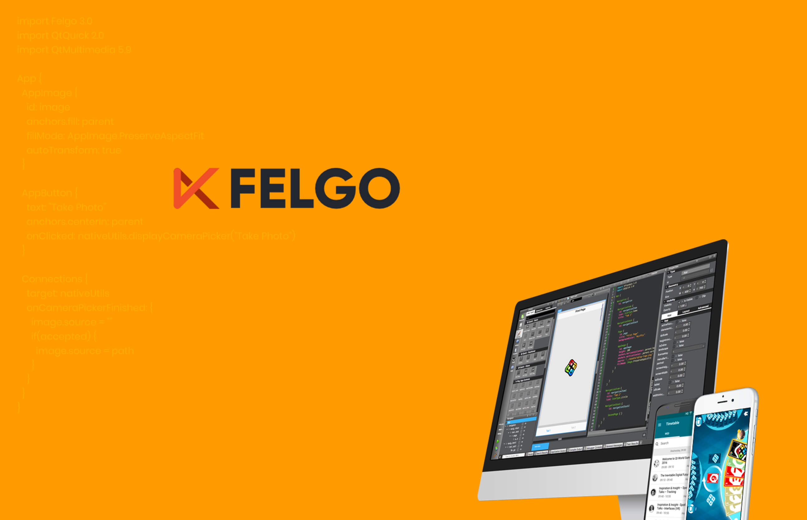 a computer screen with felgo coding