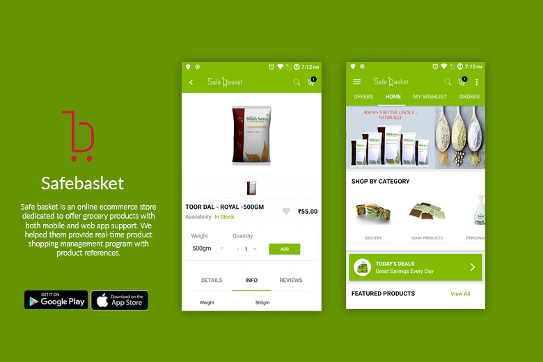 big basket app poster