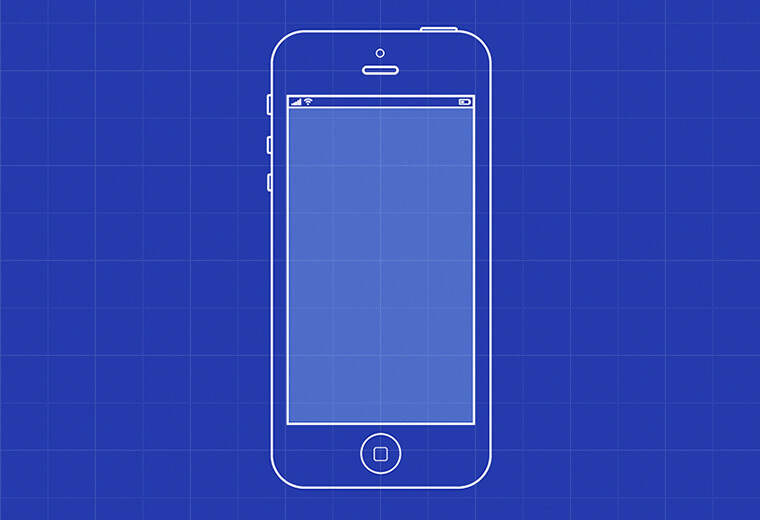 an iphone with violet background