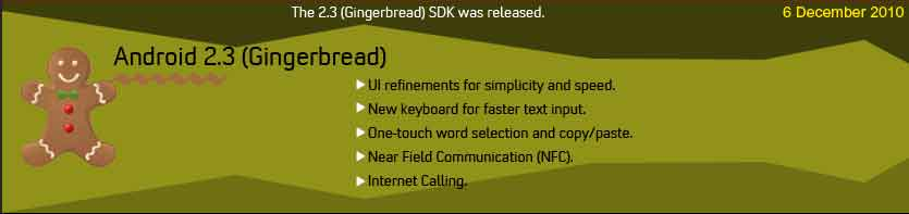 android ginger bread features