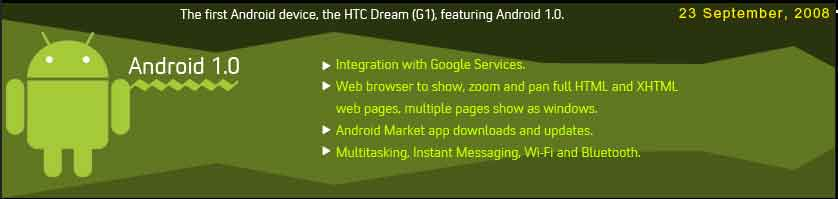 android 1.0 features