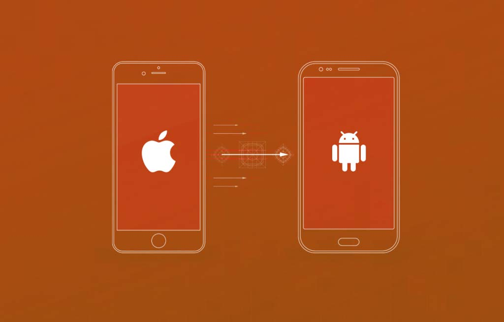 an iphone and an android smartphone