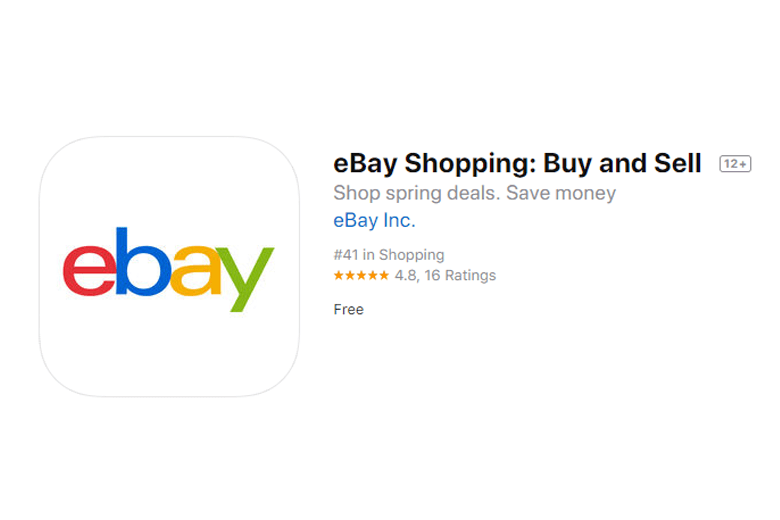 ebay website screenshot