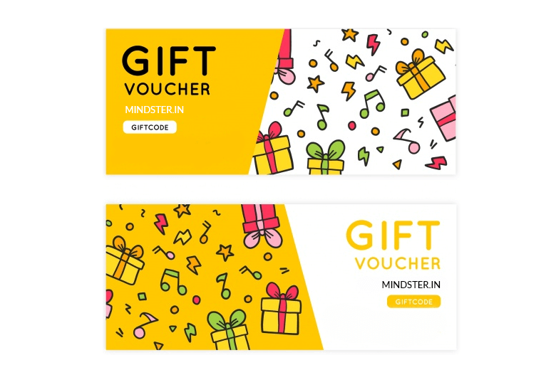 a yellow gift voucher design