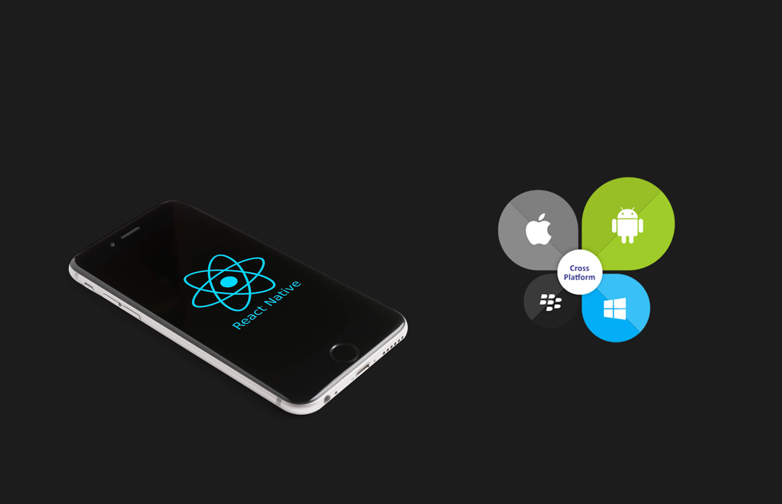 an iphone with react native logo