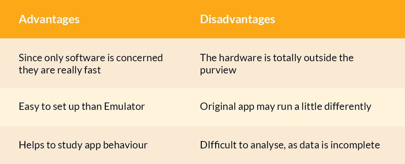 simulator advantages and disadvantages