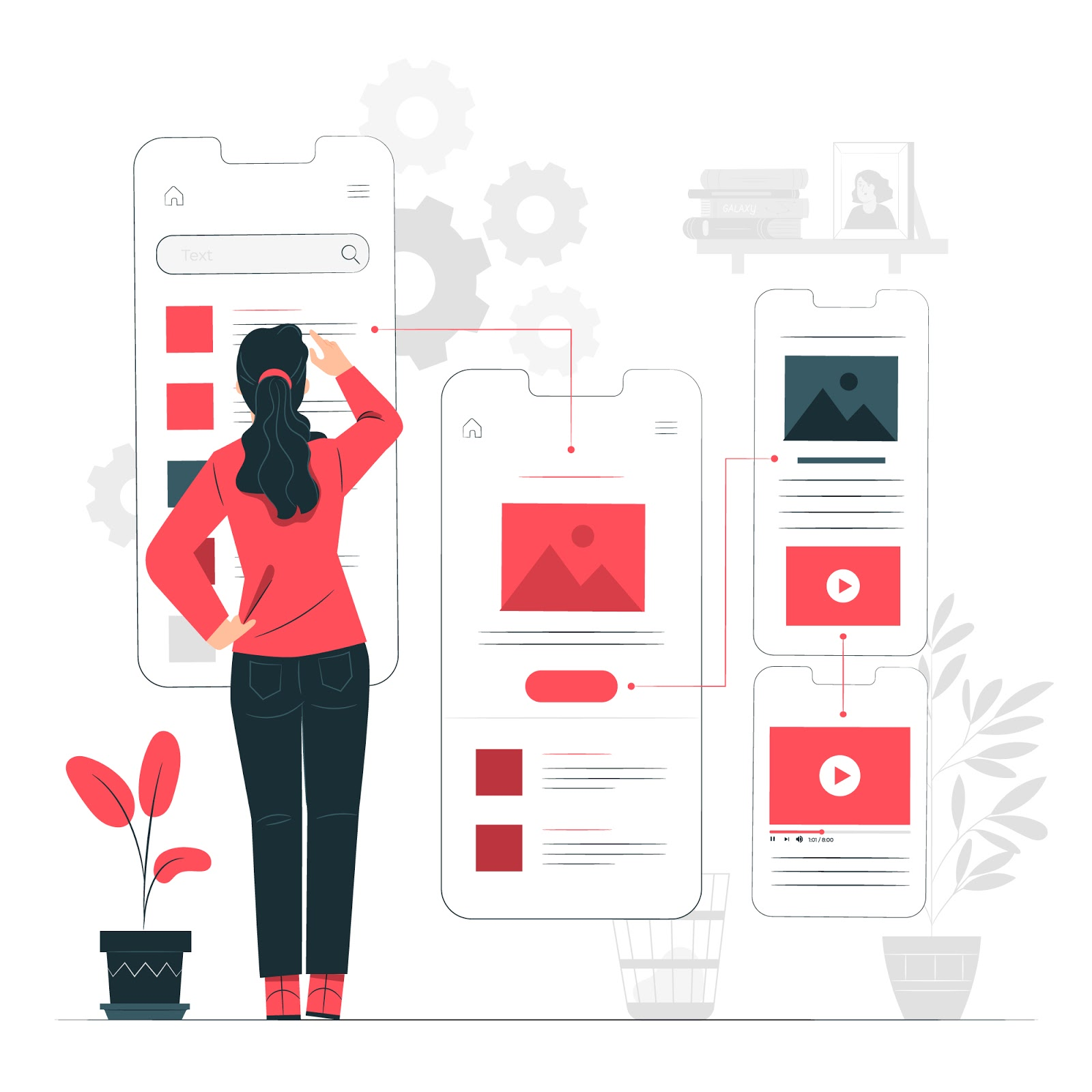 app ui ux designing and wire framing