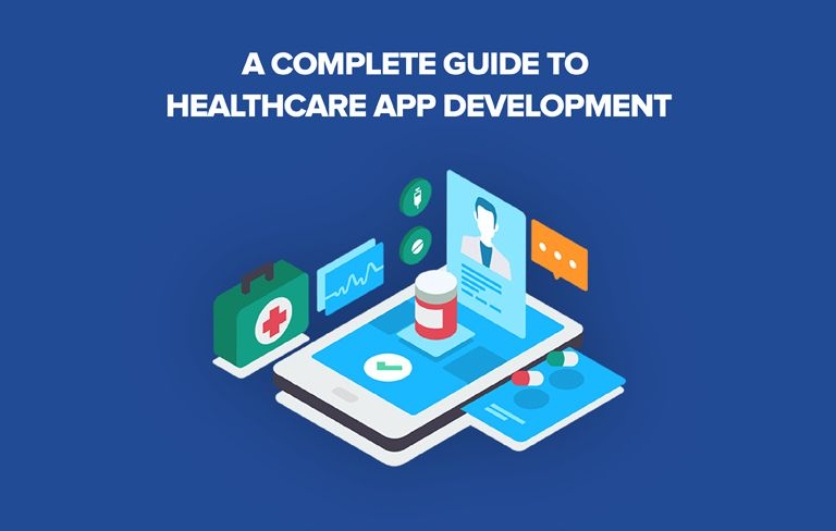 an illustrated image about healthcare app development