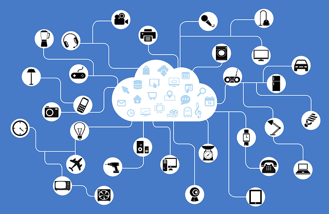 a cloud network that connects various devices