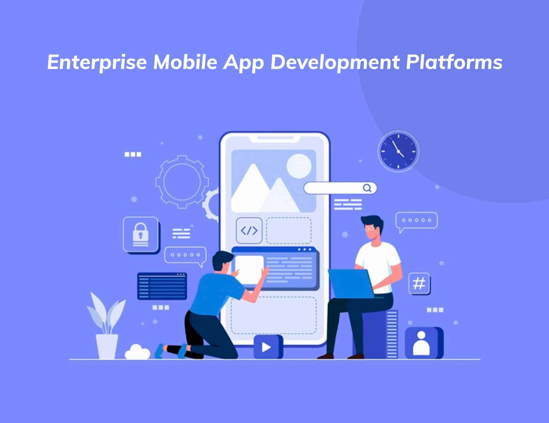 two persons developing an enterprise mobile app